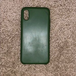 CYLO brand silicone army green iPhone X case
